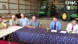 Ohio Governor Mike DeWine spoke with and listened to several Northwest Ohio farmers about their losses due to heavy rainfall this season.