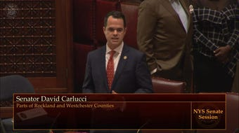 Senator David Carlucci thanks the New York State Senate for passing the Toll Payer Protection Act.