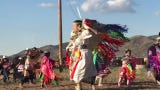 Reno-Sparks Indian Colony Pow Wow Club dances at Reno Rodeo Cattle Drive.