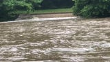 Heavy rains in Delaware and Pennsylvania had the Brandywine River running high and fast Thursday morning. More rain is coming through Thursday night.