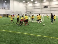 City on the Pitch brings soccer to 76ers Fieldhouse.