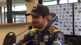 Alexander Rossi bounced and slid his way to the fastest lap of IndyCar practice Friday at Road America. He discusses the lap, the track and more.