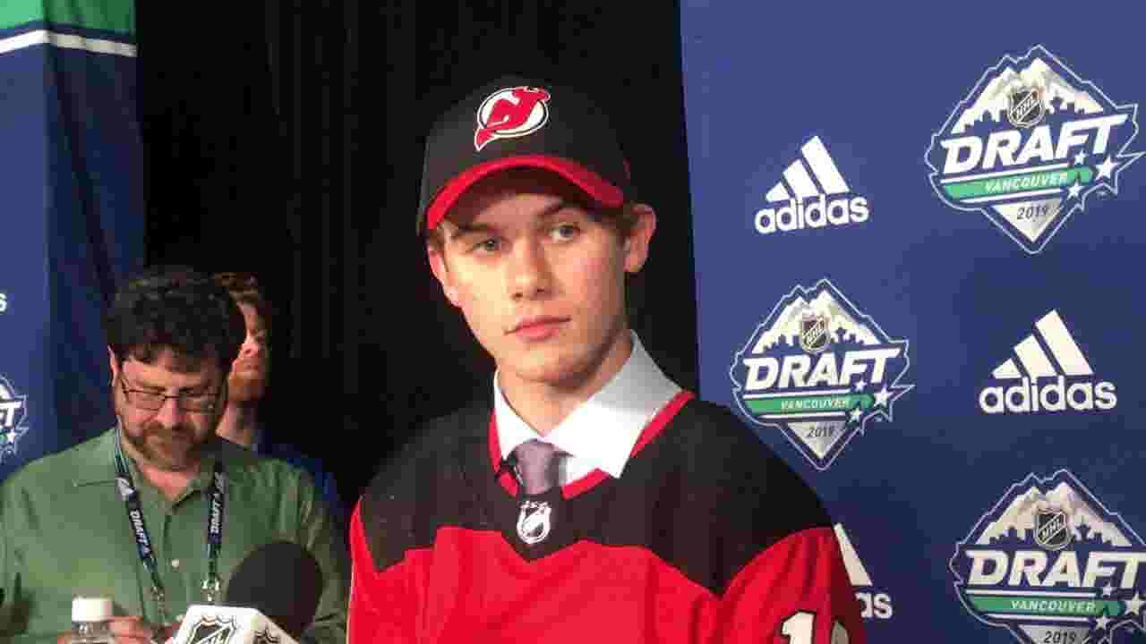 WATCH: Jack Hughes selected No  1 overall by the NJ Devils