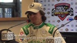 Colton Herta, 19, discusses winning the pole for Sunday's REV Group Grand Prix at Road America, improving his car and,  yes, his hair.