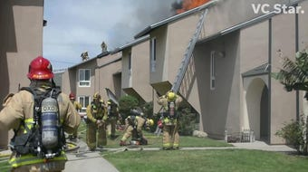 Crews were called to the second time within a few hours to fight a fire in the 1300 block of Althea Court in Oxnard.