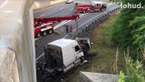 A tractor-trailer crash snarled traffic on Interstate 287 westbound in White Plains on June 24, 2019.