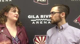 Richard Morin and Julia Stumbaugh break down the first day of Coyotes prospect camp