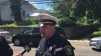 A man who shot at NKY police is believed to be in a SWAT standoff on McHenry Avenue in Cincinnati, Lt. Steve Saunders said.