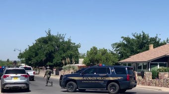 LCPD SWAT surrounded a home in the 900 block of Hadley Avenue on Tuesday, June 25, 2019.