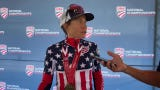Amber Neben speaks after her third consecutive win in the USA Cycling's women's individual time trial championship.