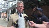 Vanderbilt head coach Tim Corbin talks about bringing Donny Everett's parents on stage after national championship win.