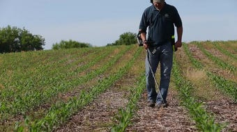 Fond du Lac's John Ruth hunts for buried treasures on old homesteads with his metal detector.