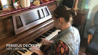 Perseus Decker of Newark, 13, will be a seventh grader at Ohio State School for the Blind, and performs popular songs along with her own music.