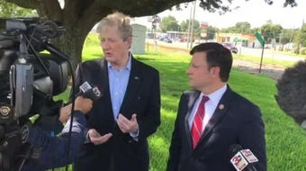 Sen. John Kennedy trashes Congresswoman Ocasio-Cortez at Barksdale Airforce Base in Bossier, La. Says the voices in her head aren't real.