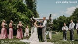 He fell for her before she had broken up with a difficult boyfriend. They married in May under a sunny sky in Airville.