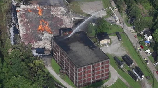 Jim Beam bourbon warehouse fire still burning Thursday more than 42 hours after it started