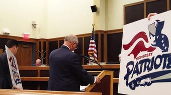 On July 1, Somerset Patriots owner and Chairman Emeritus Steve Kalafer spoke at a township council meeting and criticized the council for not voting on a fireworks permit for the baseball team. This is part one of two videos.