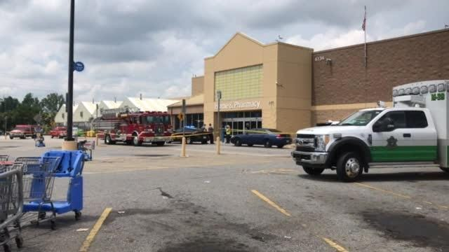 Deputies respond to the scene of a shooting at a Walmart in Berea