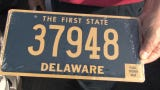 Several five-digit license plates will be up for grabs in Delaware starting July 9.   Low-digit tags are coveted as a sign of prestige in Delaware.  7/9/19