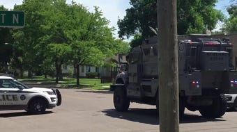The High Risk Unit arrives at the scene of a standoff on the 1800 block of Central Avenue.