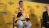 Matt Duchene talks about how he hit it off with Predators coach Peter Laviolette