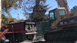 State and local officials held a news conference Wednesday at the Reagan Ranch in Agoura Hills,to announced that crews removed the last loads of debris from properties burned in the Hill and Woolsey fires.