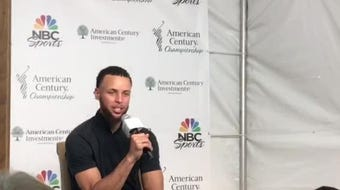 Golden State Warriors guard Steph Curry talks about Warriors losses and gains since the season ended.