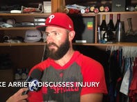 Phillies Arrieta discusses injury, will keep pitching
