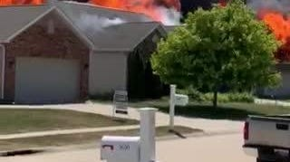 Reader-submitted video by Bethany VanFossen of Friday's five-house fire in Lindberg Village.