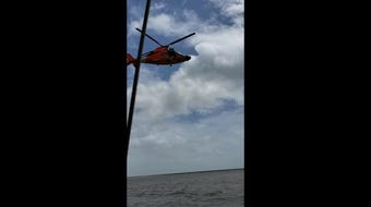 A Coast Guard aircrew out of New Orleans was called to rescue five stranded boaters off the coast of Gulfport on Friday, July 12, 2019.