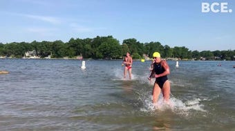 Event held since 1928 features 1.15 mile, 750 meter and 200 yard open water swim from Willard Beach at Goguac Lake