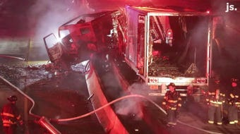 A semitrailer truck fire shut down all I-43 lanes in both directions near West North Avenue on Sunday night.