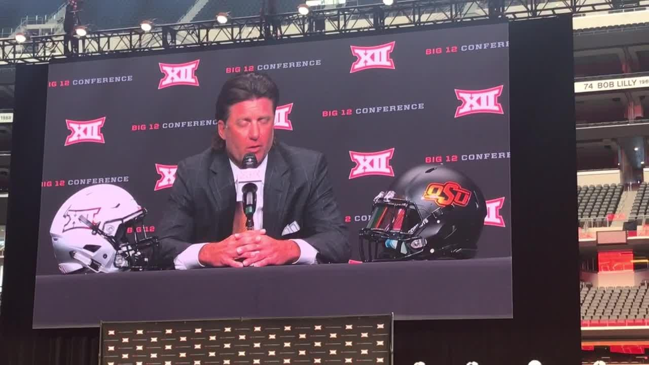 Oklahoma State coach Mike Gundy admits being surprised by Brock Purdy