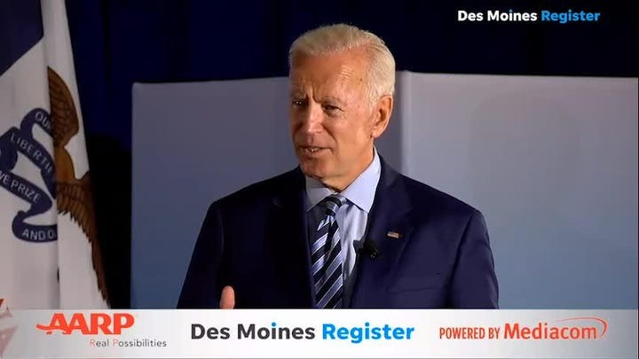 """Former Vice President Biden discusses his healthcare plan and the """"public option"""""""