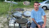 For Gatlin Harvey, 22, the unpaved parking area at Yarbrough Linear Park along Daniels Parkway is the perfect place to practice his drum skills.