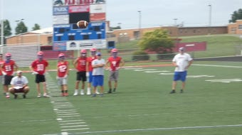 Licking Valley and Columbus Academy matched up Tuesday morning for a passing scrimmage.