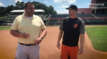 "In this episode of ""Around the Bases,"" DelmarvaNow reporter Ricky Pollitt talks to Delmarva Shorebirds outfielder Robert Neustrom."