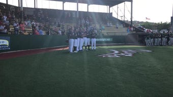 The Chillicothe Paints' bullpen sang the national anthem before their 8-4 win over West Virginia on Tuesday.