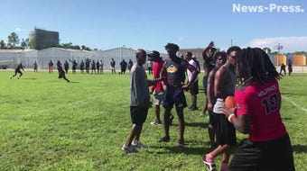 Lehigh Senior hosted Riverdale and South Fort Myers for a 7-on-7 exhibition on Wednesday.