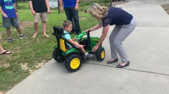 UWF engineering students build an adaptive car for Jack, a 4-year-old Pensacola boy with cerebral palsy.