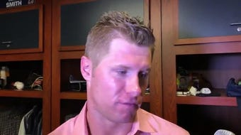 Milwaukee Brewers starting pitcher Chase Anderson talks about his outing against the Atlanta Braves and teammate Christian Yelich.