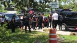 A large Lee County Sheriff's Office presence along with fire officials and several ambulances converged Thursday, July 18, 2019, on the main entrance to Chico's in Fort Myers.