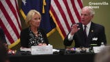 U.S. Education Secretary Betsy DeVos participates in roundtable discussion in Taylors, SC