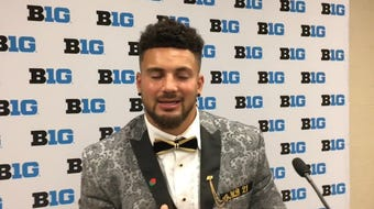 Purdue senior linebacker shares the back story of how he selected his suit for Big Ten Media Day