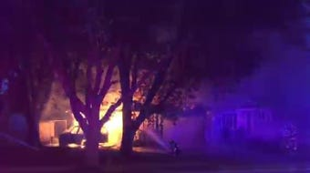 The Sioux Falls Fire Department responded to a fully-engulfed house fire Saturday morning in eastern Sioux Falls.