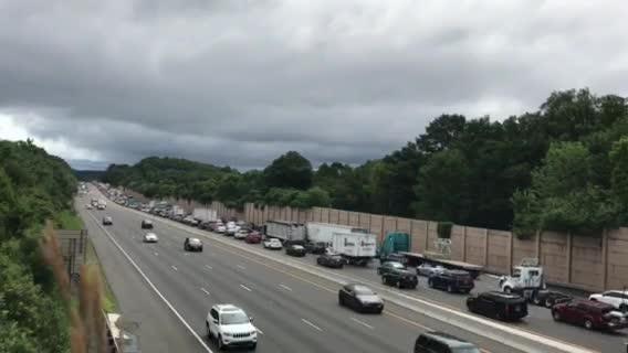 Route 80 east backups snarl traffic