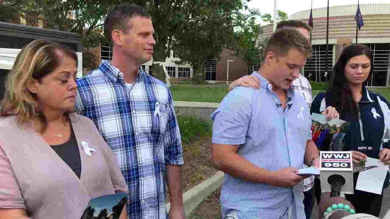 Family of Tyler Wingate, who was slain in Detroit, speaks at Berkley High  School