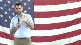 Zach Wahls closed out his Birthday Brunch, which featured speeches from five presidential candidates, with a story of how he met Chloe Angyal.