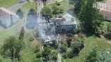 DRONE VIEW: A home at 11 Wilson Court in Manalapan was destroyed by a Friday fire.