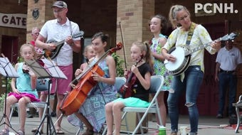 The wait for an evening of entertainment at Lakeside was made a little easier thanks to the delightful folksy tunes performed by the Maechner family.